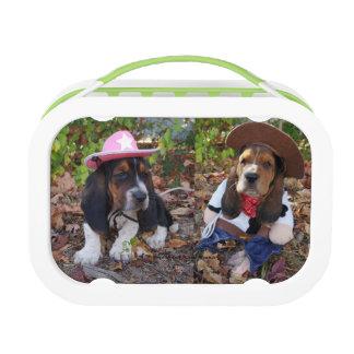 Basset hound puppy lunch box