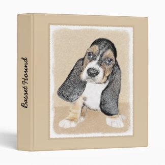 Basset Hound Puppy Painting - Original Dog Art Binder