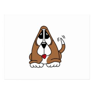 Basset Hound Puppy Postcard