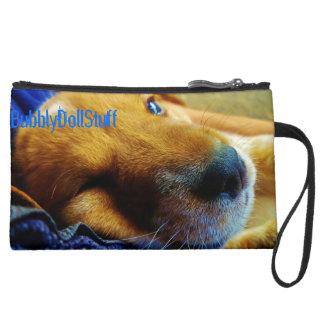 Basset Hound Puppy Wink Clutch Wristlet
