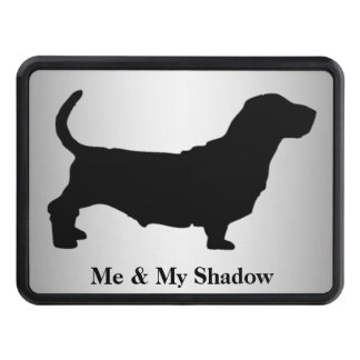 Basset Hound Silhouette Hitch Cover