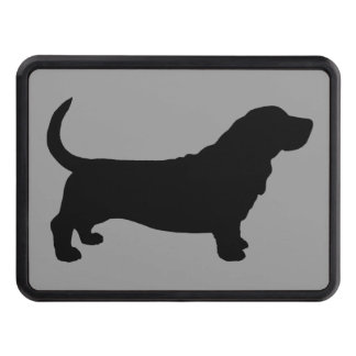 Basset Hound Silhouette Trailer Hitch Cover