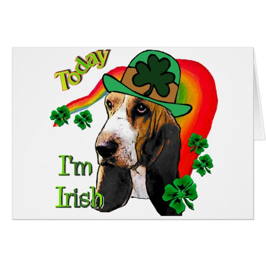 Basset Hound St. Patricks Day Card