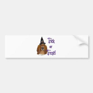 Basset Hound Trick Bumper Sticker