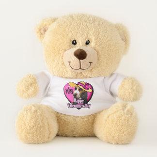 Basset Hound Valentines Day Teddy Bear