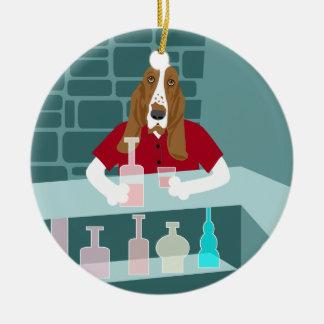 Basset Hound Whiskey Bar Ornament