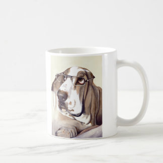 "Basset Hound with ""Do my eyes look big in these?"" Coffee Mug"