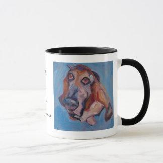 Basset Hound WOOF! Mug • Pet Portraits • E Fraser