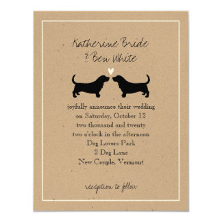 Basset Hounds Wedding Invitation