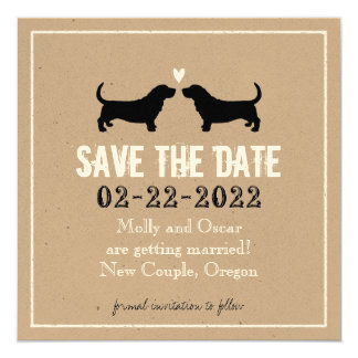 Basset Hounds Wedding Save the Date Card
