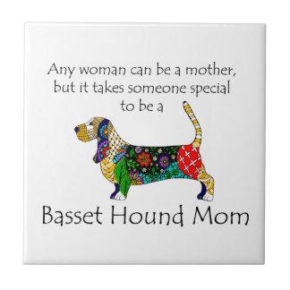 Basset Mom Tile