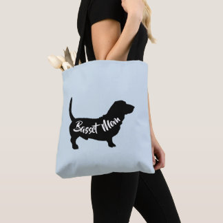 Basset Mom tote (multiple colors available)