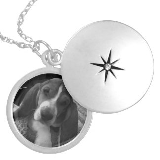 Basset Puppy Silver Plated Necklace