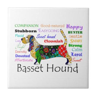 Basset Traits Tile Coaster