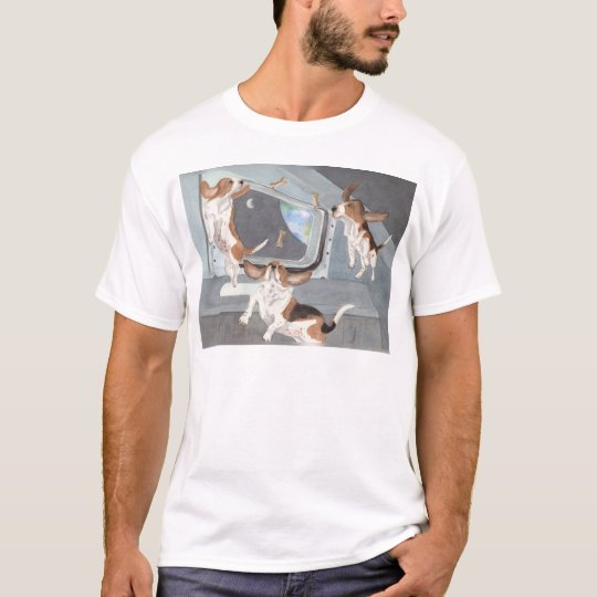 Bassets on the Space Shuttle Shirt