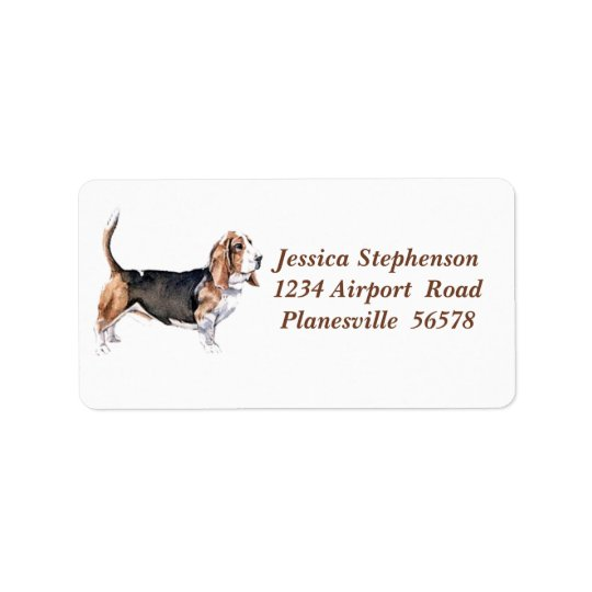 Bassett Hound address label