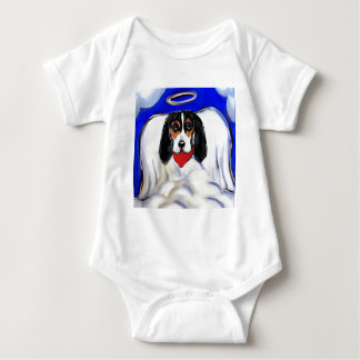 Bassett Hound Angel Baby Bodysuit