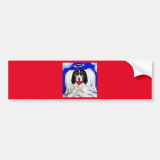 Bassett Hound Angel Bumper Sticker