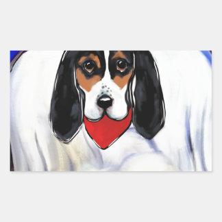 Bassett Hound Angel Sticker