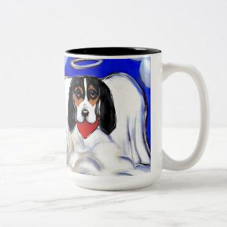 Bassett Hound Angel Two-Tone Coffee Mug