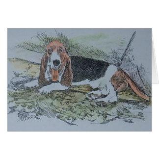 bassett hound card
