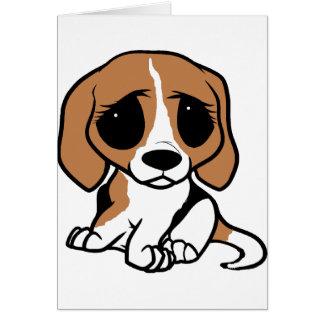 bassett hound cartoon card
