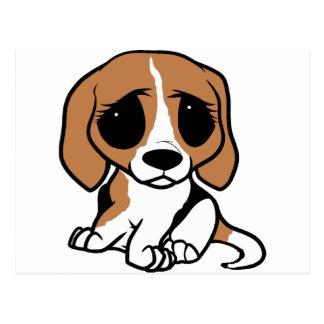 bassett hound cartoon postcard