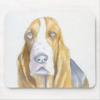 Bassett hound mouse pad