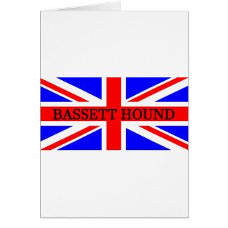 bassett hound name on flag card