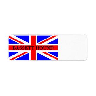 bassett hound name on flag return address label