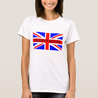 bassett hound name on flag T-Shirt