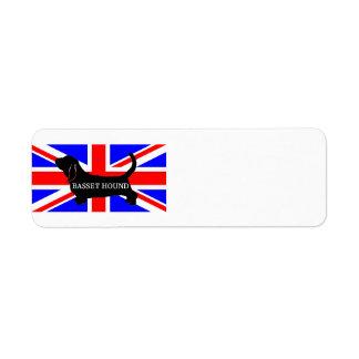 bassett hound name silo on flag return address label