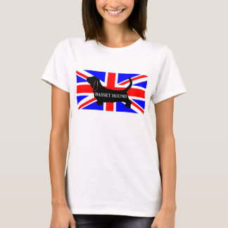 bassett hound name silo on flag T-Shirt