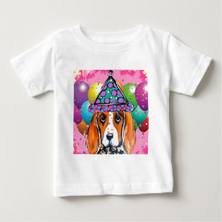 Bassett Hound  Party Dog Baby T-Shirt