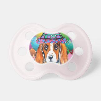 Bassett Hound  Party Dog Pacifier