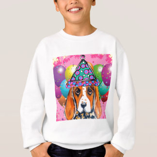Bassett Hound  Party Dog Sweatshirt