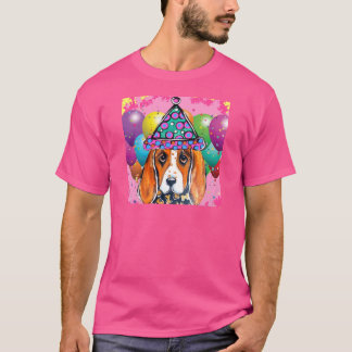 Bassett Hound  Party Dog T-Shirt