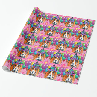 Bassett Hound  Party Dog Wrapping Paper