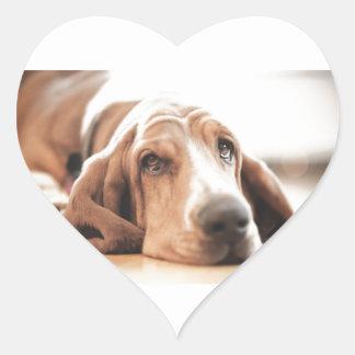 Bassett Hound Puppy Dog Heart Sticker