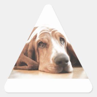 Bassett Hound Puppy Dog Triangle Sticker
