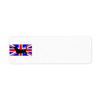 bassett hound silo on flag