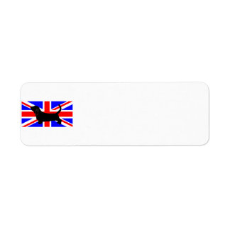 bassett hound silo on flag return address label