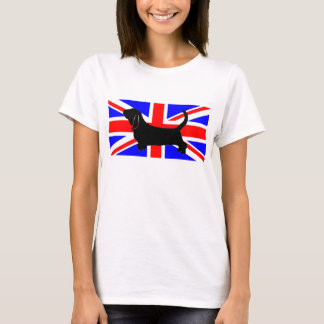 bassett hound silo on flag T-Shirt