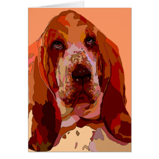 Bassett in Bright Colors Greeting Cards