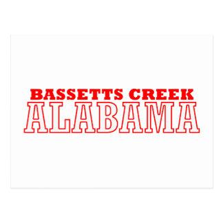 Bassetts Creek, Alabama City Design Postcard