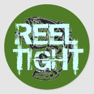 BASSFISH2, REEL , TIGHT ROUND STICKER