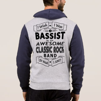 BASSIST awesome classic rock band (blk) Hoodie