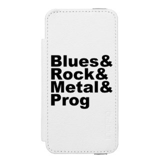 BASSIST awesome classic rock band (blk) Incipio Watson™ iPhone 5 Wallet Case