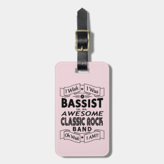 BASSIST awesome classic rock band (blk) Luggage Tag