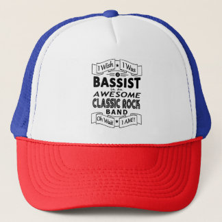 BASSIST awesome classic rock band (blk) Trucker Hat